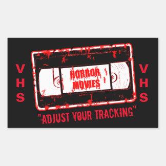 Sticker Rectangulaire Films d'horreur - la cassette vidéo ajustent votre