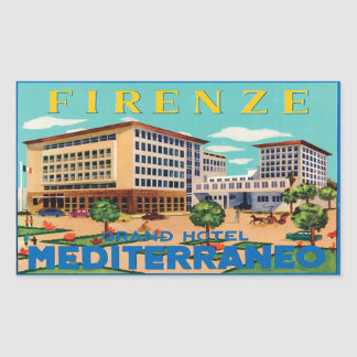Sticker Rectangulaire Firenze Grand Hotel Mediterraneo