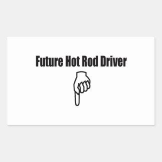 Sticker Rectangulaire Futur conducteur de hot rod