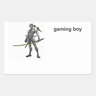Sticker Rectangulaire garçon de jeu