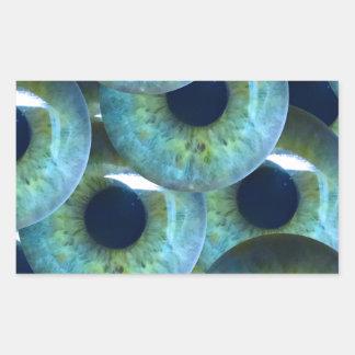 Sticker Rectangulaire globes oculaires déplaisants