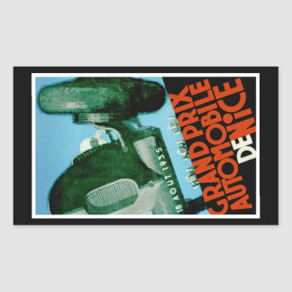 Sticker Rectangulaire Grand prix Automobile de Nice