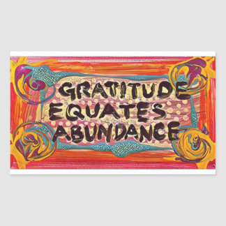 Sticker Rectangulaire Gratitude de LuckyPen