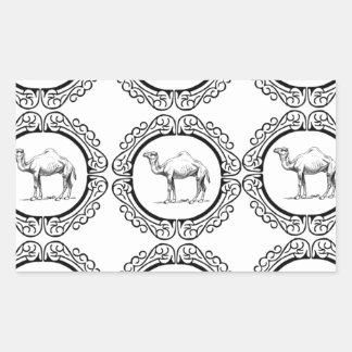 Sticker Rectangulaire Groupe de chameau