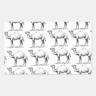 Sticker Rectangulaire groupe de troupeau de chameaux