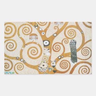 Sticker Rectangulaire Gustav Klimt l'arbre de l'art Nouveau de la vie