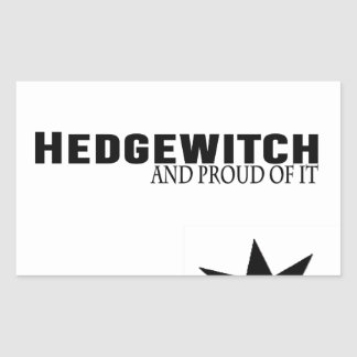Sticker Rectangulaire Hedgewitch et fier de lui