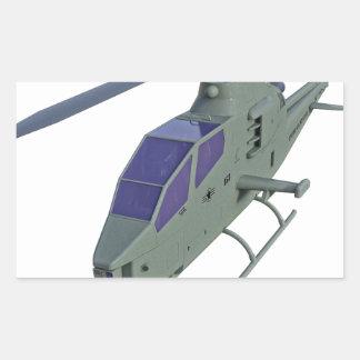 Sticker Rectangulaire Hélicoptère d'Apache dans la vue de face