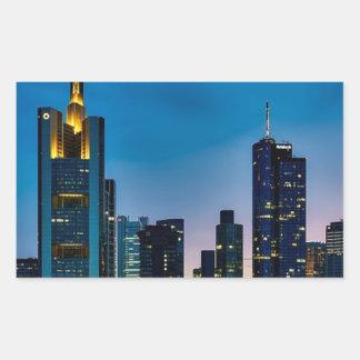 Sticker Rectangulaire Horizon de Francfort Allemagne