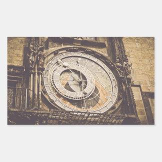 Sticker Rectangulaire Horloge astronomique dans la République Tchèque de