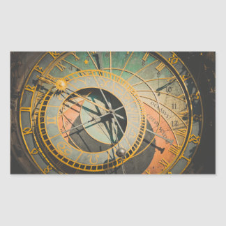 Sticker Rectangulaire Horloge astronomique de Prague dans la République