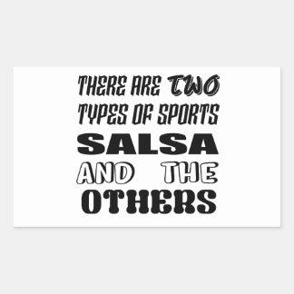 Sticker Rectangulaire Il y a deux types de Salsa et de d'autres de