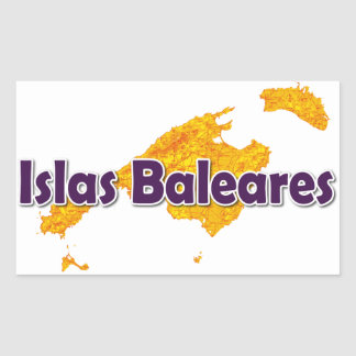 Sticker Rectangulaire Îles Baléares