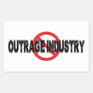 Sticker Rectangulaire Industrie d'outrage d'interdiction