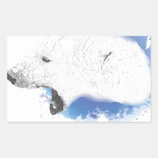 Sticker Rectangulaire Iorek, ours blindé de ses matériaux foncés