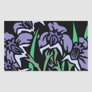 Sticker Rectangulaire Iris