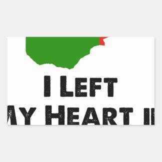 Sticker Rectangulaire J'ai laissé mon coeur en Zambie