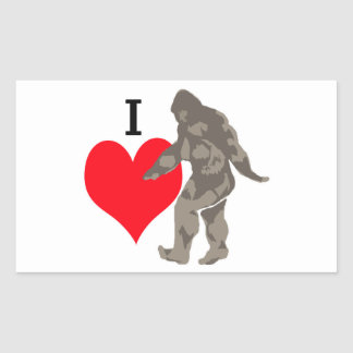 STICKER RECTANGULAIRE J'AIME BIGFOOT 1