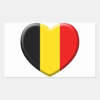 Sticker Rectangulaire j'aime la Belgique