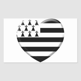 Sticker Rectangulaire j'aime la Bretagne