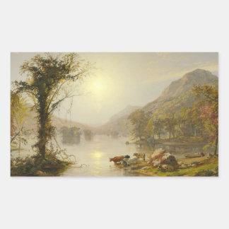 Sticker Rectangulaire Jaspe Francis Cropsey - automne sur le lac