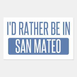 Sticker Rectangulaire Je serais plutôt dans San Mateo