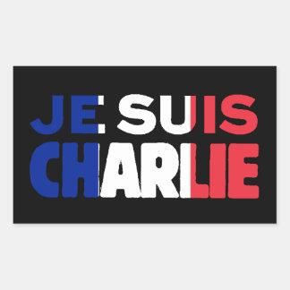 Sticker Rectangulaire Je Suis Charlie - je suis Charlie tricolore de la