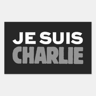 Sticker Rectangulaire Je Suis Charlie - je suis noir de Charlie