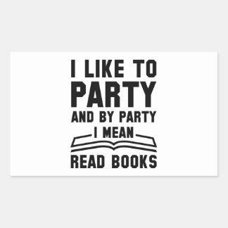 Sticker Rectangulaire Je veux dire les livres lus