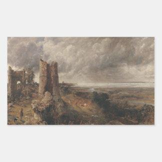 Sticker Rectangulaire John Constable - château de Hadleigh