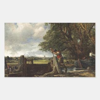 Sticker Rectangulaire John Constable - la serrure - paysage de campagne