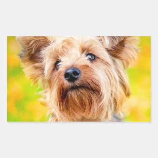 Sticker Rectangulaire Jours d'été de chien !