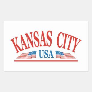 Sticker Rectangulaire Kansas City Missouri
