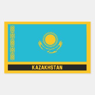 Sticker Rectangulaire Kazakhstan