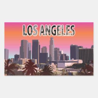 Sticker Rectangulaire L.A. du centre la Californie