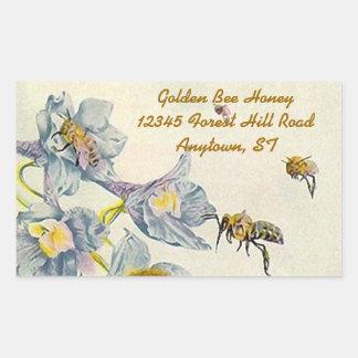 Sticker Rectangulaire La gloire de matin d'abeilles de miel