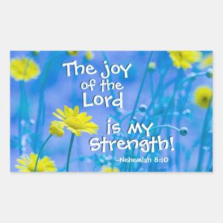 Sticker Rectangulaire La joie du seigneur est ma force, 8h10 de Nehemiah