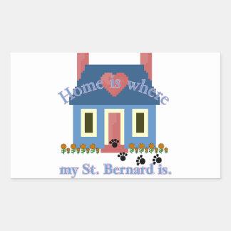 Sticker Rectangulaire La maison de ST BERNARD est