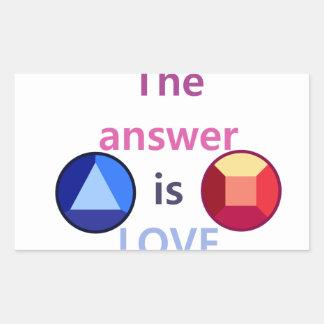 Sticker Rectangulaire La réponse est l'amour (v1)