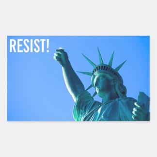 Sticker Rectangulaire La statue de la liberté résiste