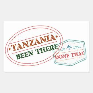 Sticker Rectangulaire La Tanzanie là fait cela