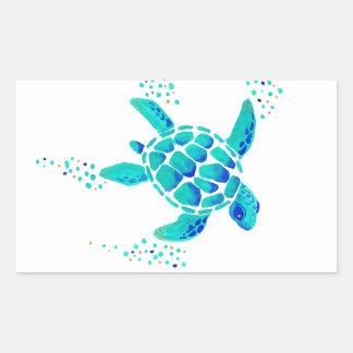 Sticker Rectangulaire La tortue de Neptune
