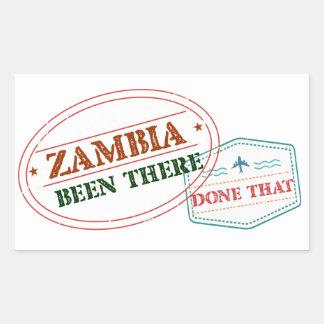 Sticker Rectangulaire La Zambie là fait cela