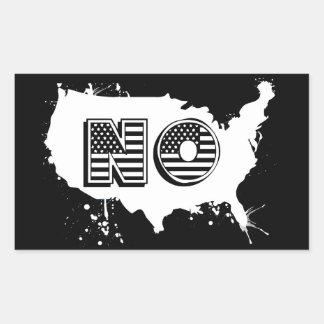 Sticker Rectangulaire L'Amérique du Nord qu'aucun anti atout grunge ne