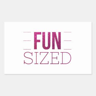 Sticker Rectangulaire L'amusement a classé la citation de motivation de