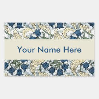 Sticker Rectangulaire Le bleu floral fleurit le muguet
