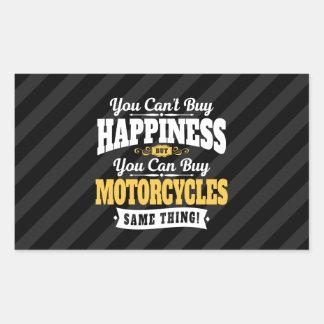 Sticker Rectangulaire Le bonheur d'achat de pente de motocycliste peut