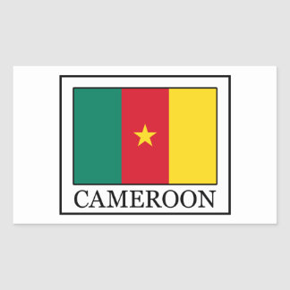 Sticker Rectangulaire Le Cameroun