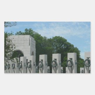 Sticker Rectangulaire Le mémorial de 2ÈME GUERRE MONDIALE tresse II dans