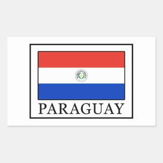 Sticker Rectangulaire Le Paraguay